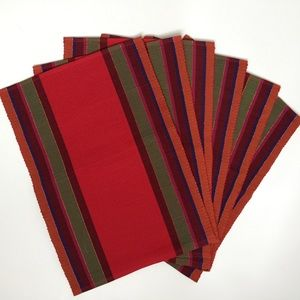 Other - Set of 6 Woven Boho Placemats